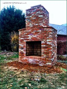 An Outdoor Fireplace We Designed For Clients At The Old Lacey House In Arlington Because
