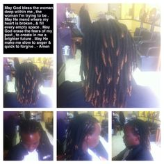 Colored dreads tips