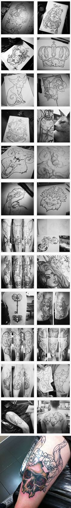 Sara Fabel Art OK the fourth one down from left ,three eyes version rear calf ,maybe over inner calf flowing Dream Tattoos, Future Tattoos, Love Tattoos, Beautiful Tattoos, Body Art Tattoos, Piercings, Tattoo Sketches, Tattoo Drawings, Sara Fabel