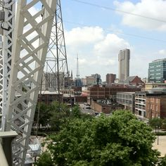 View from the Shelby Street Bridge on a beautiful afternoon...:-)