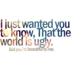 The world is ugly lyrics~My Chemical Romance