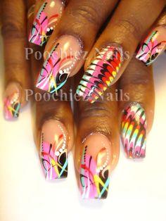 nail art by poochiez   Poochiez Nails - CoolNailsArt