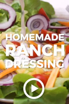 Homemade Ranch by The Cookie Rookie. This easy recipe is super creamy and full of flavor! Pin made by GetSnackable.com. #Ranch #Dressing Best Ranch Dressing, Healthy Ranch Dressing, Ranch Salad Dressing, Ranch Dressing Recipe, Homemade Ranch Dressing, Ranch Recipe, Salad Dressing Recipes, Homemade Salad Dressings, Buttermilk Salad Dressing