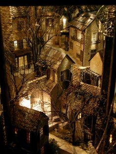 Miniature village vignette by 'when_abode'