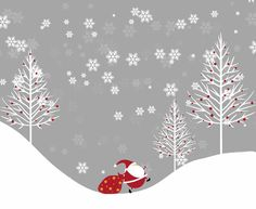 free winter illustration 6 pic on Design You Trust Merry Little Christmas, Noel Christmas, Christmas Images, Christmas Design, Winter Christmas, All Things Christmas, Vintage Christmas, Christmas Crafts, Christmas Decorations