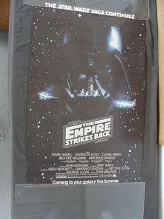 Vintage 1979 Star Wars The Empire Strikes Back Movie Poster Darth Vader