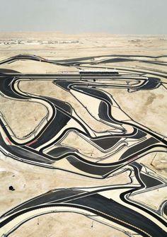 Andreas Gursky  aerial desert shots (Bahrain)