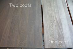 Weathered Oak Stains Closet doors