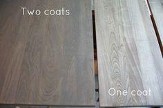 Weathered Oak Stains Closet doors
