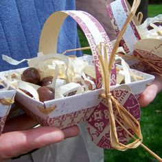 Prompt #23 - I wish I had written a tutorial for this in time for people to actually do it before Easter! Biodegradable Easter Basket made with plantable seed paper.