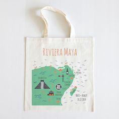 Riviera Maya Map Tote