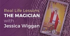 "Learn more about how the Magician symbolizes your limitless potential from Jessica Wiggan in the free Ebook ""Real Life Lessons from the Major Arcana"" -- now available on Biddy Tarot! https://www.biddytarot.com/magician-jessica-wiggan/"