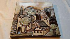 Original Ruscha Art Keramik Wandbild echte Handarbeit 27 x 27 cm