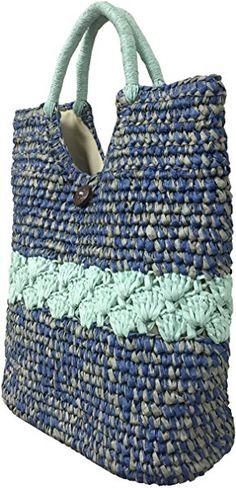Amazon.com: Straw Tote Bag for Women Hand Knitted Crochet Handbag Summer Beach Bag by Simple Jumo (Blue): Shoes