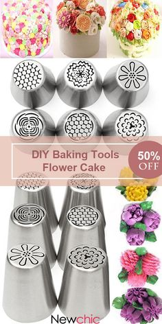 DIY Baking Tools Russian Tulip Flower Cake Icing Piping Nozzles Decorating Tips is fashionable and cheap, come to NewChic to see more trendy DIY Baking Tools Russian Tulip Flower Cake Icing Piping Nozzles Decorating Tips online. Creative Cake Decorating, Cake Decorating Supplies, Cake Decorating Techniques, Creative Cakes, Cookie Decorating, Icing Frosting, Piping Icing, Cake Icing, Eat Cake