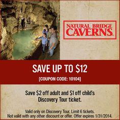 Fantastic caverns discount coupons