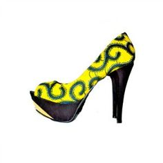 Sometimes we like things bright the MIMI African Peep Toes Pumps can go From work grind to ladies night these beauties can make any outfit feel elevated-they can basically be worn with anything! Have