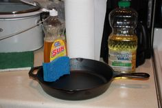 Cast Iron for Dummies - How to properly Season and Clean your Skillets