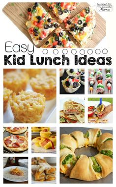 Easy Kid Lunch Ideas -  I love easy recipes!