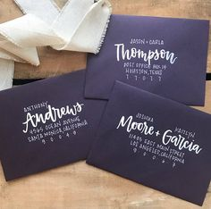 Set a stylish tone for your wedding or special event with personalized hand lettered brush calligraphy. This listing is for the addressing only, with the client providing the envelopes. Please message me if youd like me to provide envelopes for an additional cost. Each envelope is