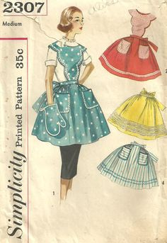 Vintage 50s Sewing Pattern Simplicity 2307 by studioGpatterns, $14.50
