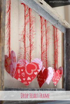 Make your own Drop Heart Frame with Martha Stewart Crafts! #12MonthsofMartha