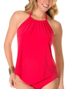 Another great find on #zulily! Nectarine Nicole Halter Tankini Top by Magicsuit #zulilyfinds