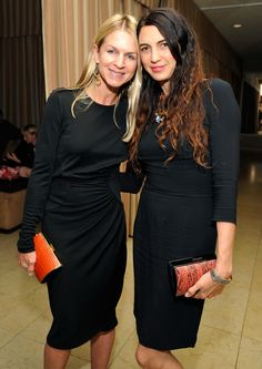Crystal Lourd & Shiva Rose with their FW12 Devi Kroell Carlyles