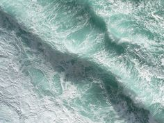 A small part of Atlantic Ocean seen from Dún Aengus (Inishmore island, Ireland) located on a high cliff.