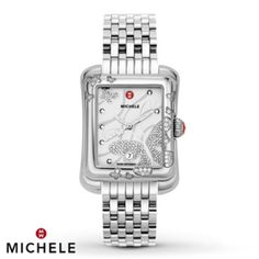 "Visit Moyer Fine Jewelers in Carmel, Indiana for the glamorous Michele watches reflecting the effortless elegance of those ""leading ladies"" in everyone's lives. Stylish Watches, Watches For Men, Michelle Watches, Star Watch, Stainless Steel Bracelet, Fashion Watches, Gold Watch, Rolex Watches, Jewels"