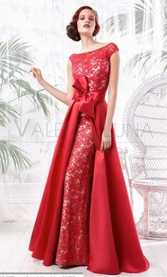 Elegant Straight Red Bow Lace Evening Dresses 2016 with Detachable Train Mother of the bride dress Prom Gowns abendkleider Lovely Dresses, Beautiful Gowns, Elegant Dresses, Beautiful Outfits, Dinner Gowns, Evening Dresses, Gala Dresses, Wedding Dresses, Dresses 2016