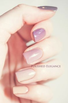Zoya Naturel collection ombre nail art manicure