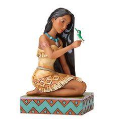 Disney Traditions Pocahontas with Bird Statue - Enesco - Pocahontas - Statues at Entertainment Earth