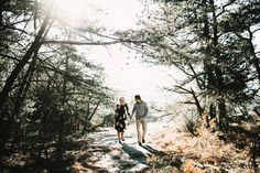 North Carolina mountain engagement session. | by Amber Michelle Photography