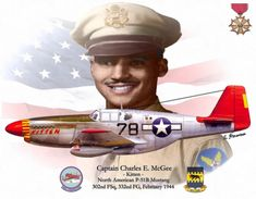 Charles E. McGee North American P-51 Mustang Fighter BFD
