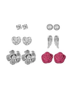6 on Glam Earring Set from WetSeal.com