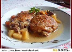 Kuřecí maso dobré hospodyně recept - TopRecepty.cz No Salt Recipes, Chicken Recipes, Snack Recipes, Snacks, Czech Recipes, Russian Recipes, Poultry, Ham, Pork