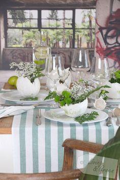 Tischlein deck dich ... frühlingsfrisch  - Tischdekoration Frühling