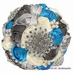 Romantic Wedding Bride Holding Bouquet Roses with Diamond... https://www.amazon.com/dp/B01ERCOZ7A/ref=cm_sw_r_pi_dp_x_lGdRxbW1YYZSD