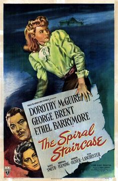 The Spiral Staircase (1946) - Directed by	Robert Siodmak  Produced by	Dore Schary  Starring	Dorothy McGuire  George Brent  Ethel Barrymore  Music by	Roy Webb  Cinematography	Nicholas Musuraca  Editing by	Harry Gerstad  Distributed by	RKO Radio Pictures  Release date(s)	February 6, 1946