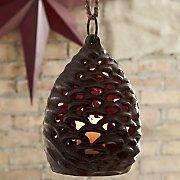 Pinecone Candle Lantern