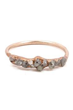 Raw Diamond Cluster Ring | #mooreaseal