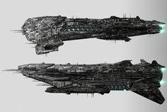 alien spaceships concept, Srdjan Pavlovic on ArtStation at https://www.artstation.com/artwork/G1Vyd