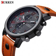72ba6cbe340 Buy Relogio Masculino Fashion Analog Display Orologio Uomo Quartz-Watch  Curren Male Watch Leather Watch Men Curren Watches at Geek - Smarter  Shopping