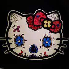 hello kitty sugar skull  - cute and cool :)