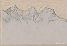 My art print honors Canmore's Three Sisters mountains Three Sisters, Mountain Landscape, Rocky Mountains, Printmaking, Vintage World Maps, My Arts, Palette, Carving, Texture