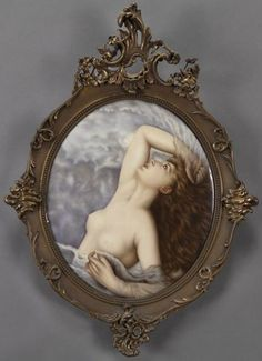 """KPM porcelain plaque ~ """"The Air"""" Signed and dated Mary C.Gatke ~ Dated 1913 ~ Origin Germany"""