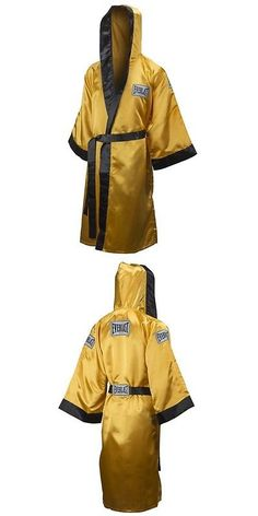 Robes 179773: New Everlast Boxing Satin Robe Full Length W/ Hood Size: X-Large Color: Gold -> BUY IT NOW ONLY: $79.95 on eBay!
