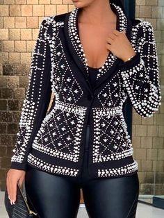 Loose Long Sleeve One Button Standard Spring Fall Women Casual Jacket – erdressby Winter Jackets Women, Fall Jackets, Shop Jackets, Long Overcoat, Fashion Moda, Women's Fashion, Petite Fashion, Curvy Fashion, High Fashion