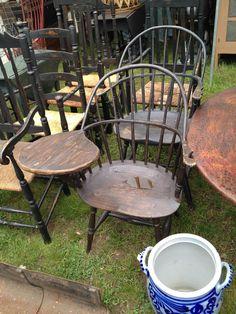 bklyn contessa :: brimfield find :: windsor writing chair
